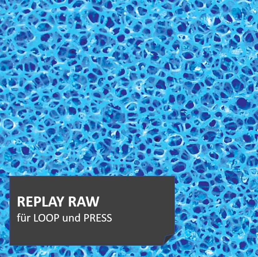 REPLAYRAW Filtermatten bieten mit ihrer hochporösen Oberfäche optimalen Lebensraum für wichtige Mikroorganismen, die Schadstoffe auf biologische Weise abbauen.