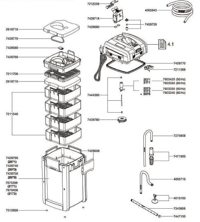 spare parts accessories professionel 3 600 2075 eheim service. Black Bedroom Furniture Sets. Home Design Ideas