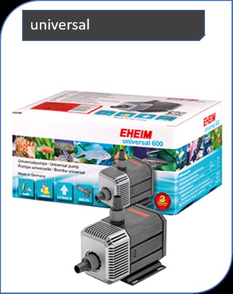 EHEIM universal Pumpen bieten ein großes Leistungsspektrum und vielfältige Einsatzmöglichkeiten. Es sind sehr solide Geräte mit hervorragenden Dauerlaufeigenschaften.